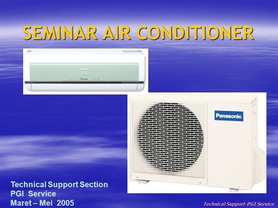 SEMINAR AIR CONDITIONER Technical Support-PGI Service Technical Support Section PGI Service Maret – Mei 2005