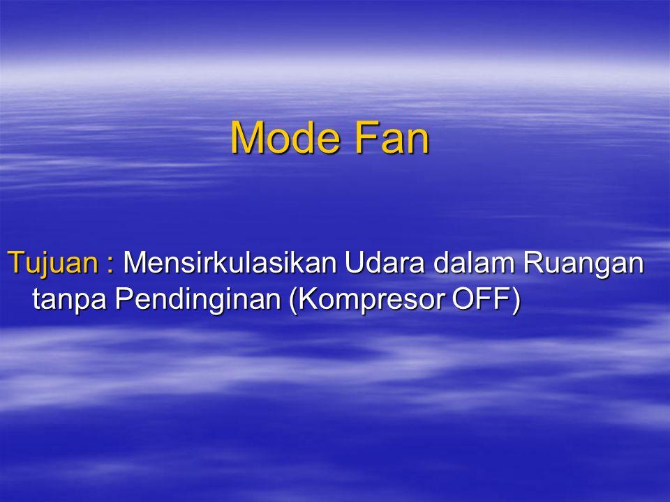 Mode AUTO Dalam mode ini AC secara otomatis menseleksi Mode Cooling atau Mode Soft- Dry dengan cara mendeteksi temperatur ruangan.