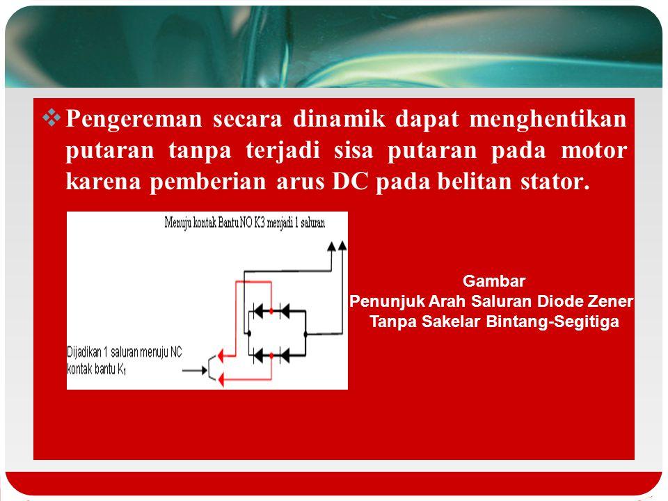 Cara yang dipergunakan sebagai pengereman adalah menghilangkan suplay daya AC dari motor dan memberikan arus searah DC pada satu phasa stator. Pada pe