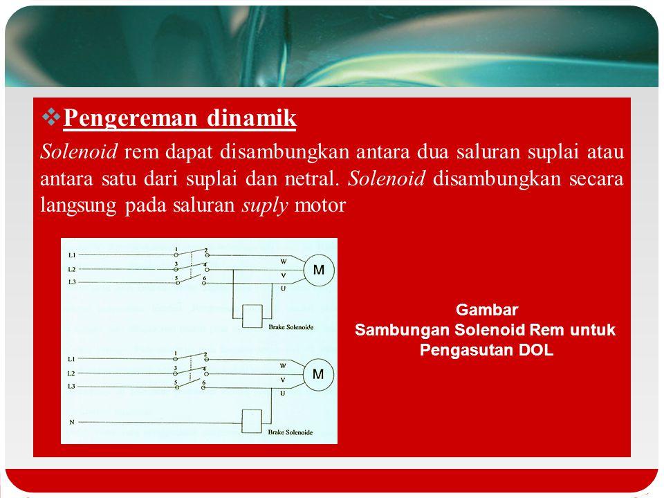  Pengereman mekanik  pengereman mekanik adalah cara memberhentikan motor listrik dengan memberlakukan gesekan atau friksi motor. Friksi tersebut dit