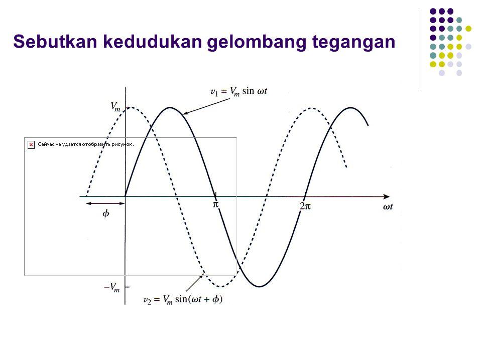 Sebutkan kedudukan gelombang tegangan