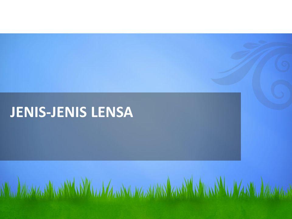 JENIS-JENIS LENSA