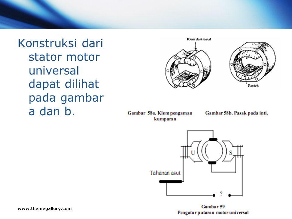 www.themegallery.com Company Logo Konstruksi dari stator motor universal dapat dilihat pada gambar a dan b.