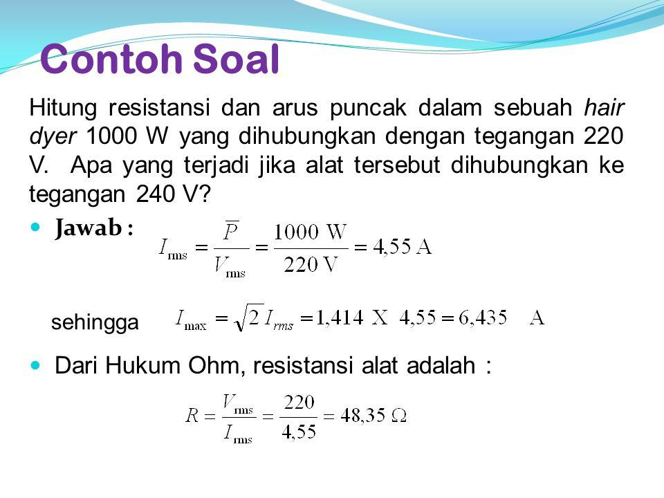 Reaktansi Induktif  Reaktansi Induktif : Hambatan induktor pada rangkaian arus bolak-balik.