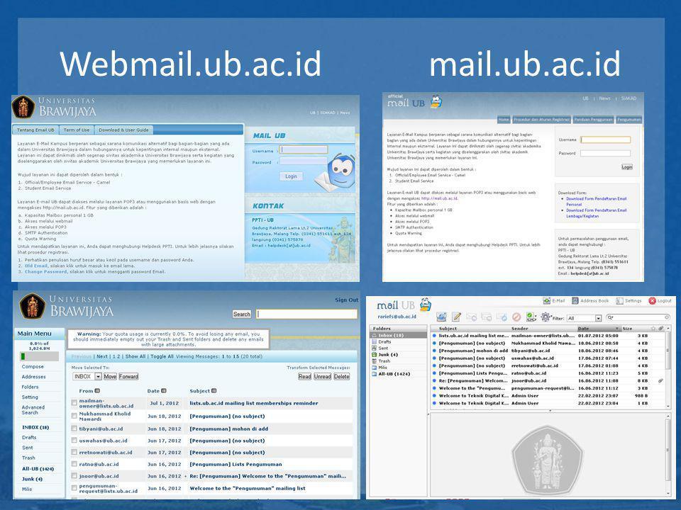 Webmail.ub.ac.id mail.ub.ac.id