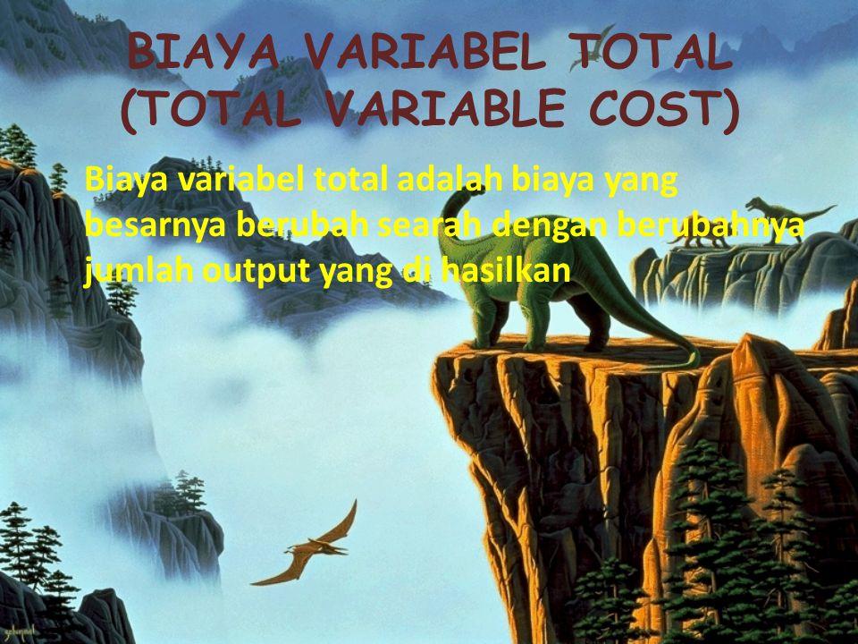 Biaya Tetap Total (Total Fixed Cost) Biaya tetap total adalah biaya yang besarnya tidak berubah seiring dengan berubahnya biaya output