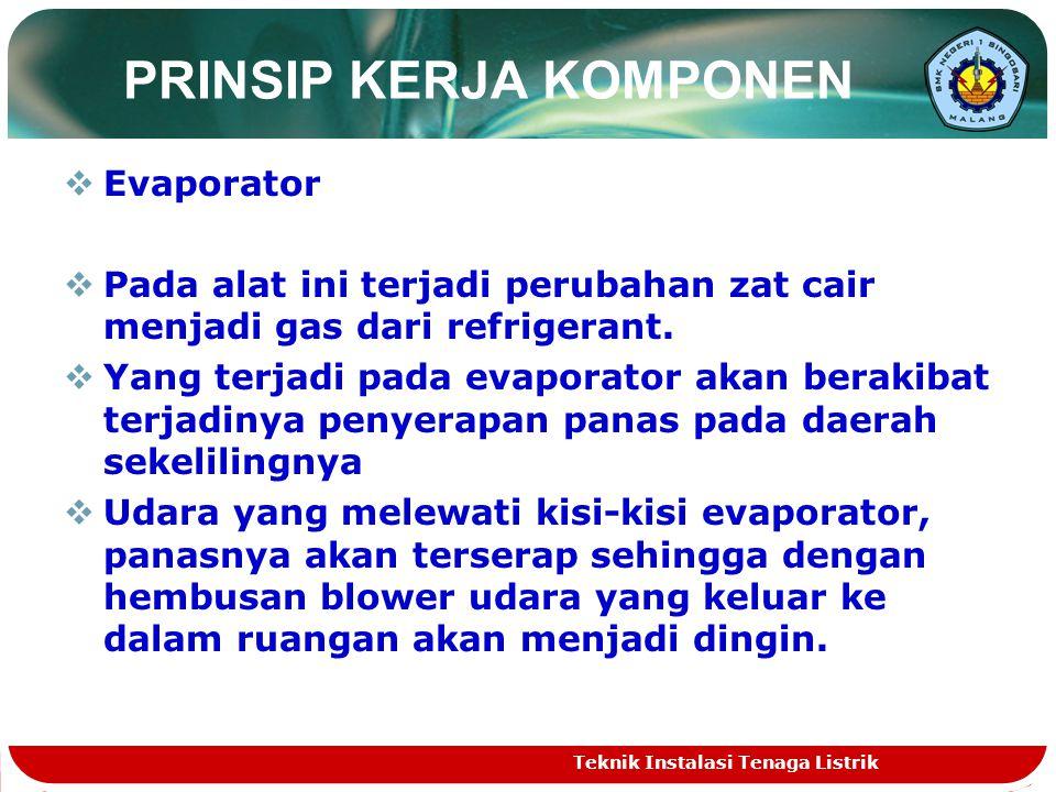 EEvaporator PPada alat ini terjadi perubahan zat cair menjadi gas dari refrigerant.