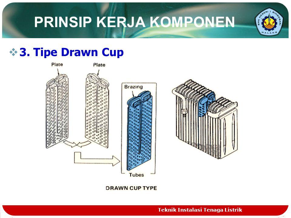  3. Tipe Drawn Cup PRINSIP KERJA KOMPONEN Teknik Instalasi Tenaga Listrik