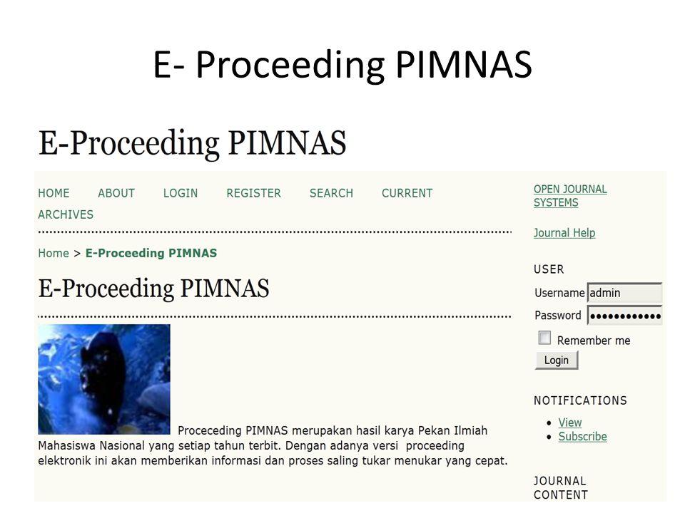 E- Proceeding PIMNAS