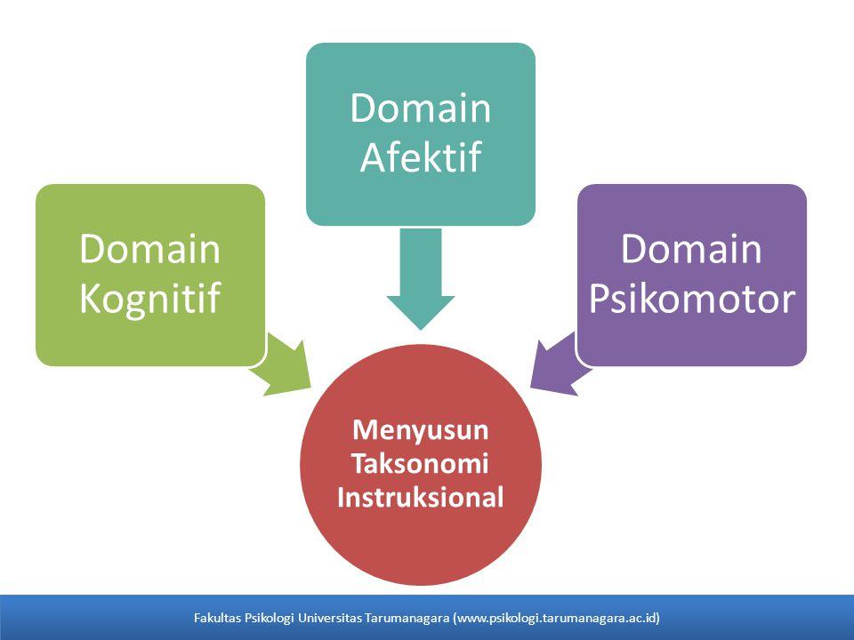 Menyusun Taksonomi Instruksional Domain Kognitif Domain Afektif Domain Psikomotor Fakultas Psikologi Universitas Tarumanagara (www.psikologi.tarumanag