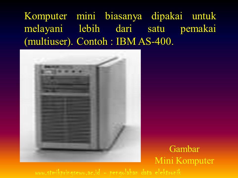 3.Komputer Mainframe Komputer mainframe sebenarnya hampir sama dengan komputer mini, namun yang membedakan adalah mainframe memiliki processor lebih dari satu.