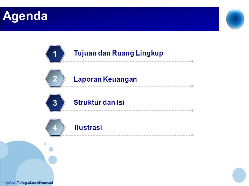 http:/.staff.blog.ui.ac.id/martani Agenda Struktur dan Isi 1 Ilustrasi 2 3 4 Laporan Keuangan Tujuan dan Ruang Lingkup