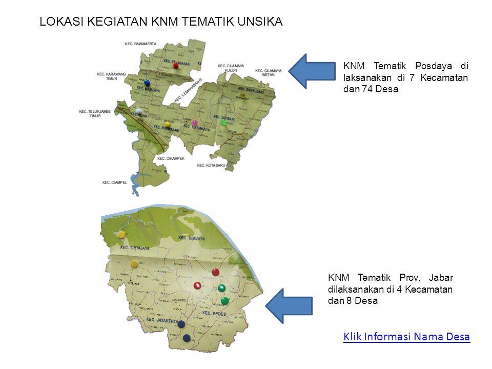 Klik Informasi Nama Desa KNM Tematik Prov.