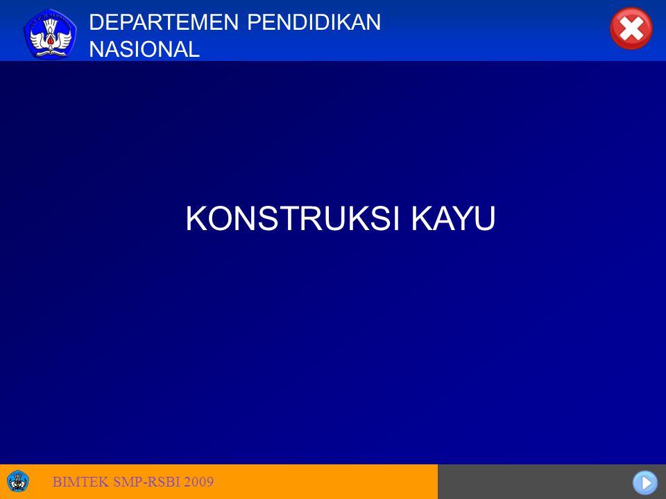 Sosialisasi KTSP DEPARTEMEN PENDIDIKAN NASIONAL KONSTRUKSI KAYU BIMTEK SMP-RSBI 2009