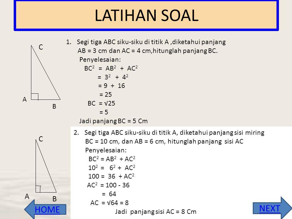 """2. Triple Pythagoras • Yaitu pasangan tiga bilangan bulat positif yang memenuhi kesamaan """"kuadrat bilangan terbesar sama dengan jumlah kuadrat kedua b"""