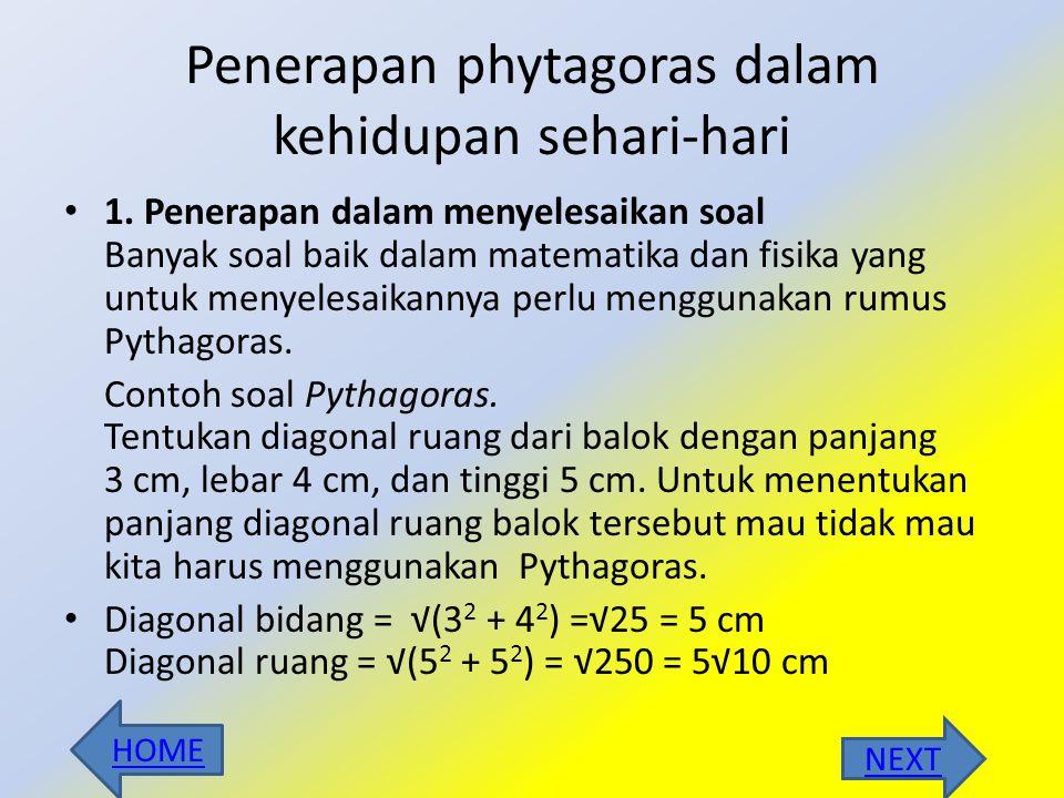 3.Tentukan jenis segitiga yang memiliki panjang sisinya : 8cm, 7cm dan 12 cm Jawab: dik : sisi terpanjang adalah 12 cm, maka a= 12 cm, b = 7cm dan c =