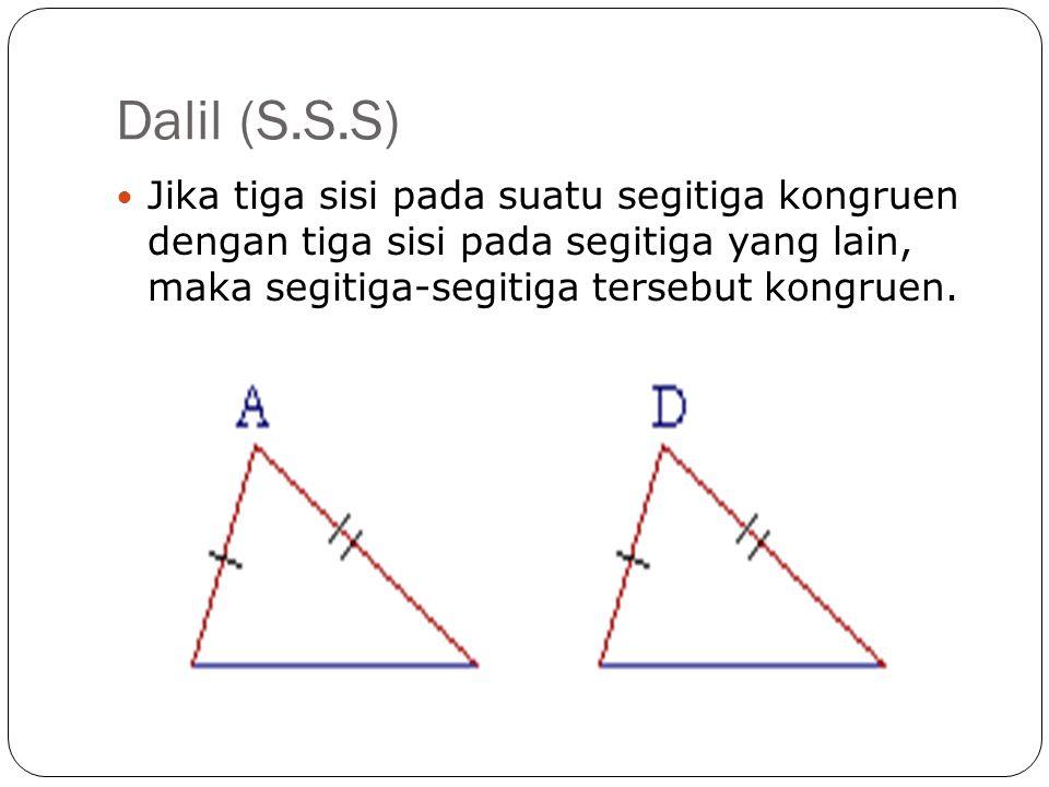 Example 10  Pada layang-layang ABCD, garis lurus AC tegak lurus dan membagi dua garis BD di titik E.