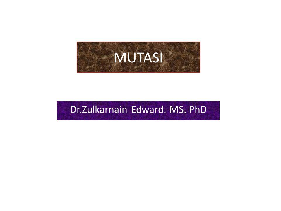 MUTASI Dr.Zulkarnain Edward. MS. PhD