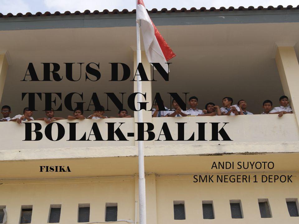 ANDI SUYOTO SMK NEGERI 1 DEPOK ARUS DAN TEGANGAN BOLAK-BALIK FISIKA