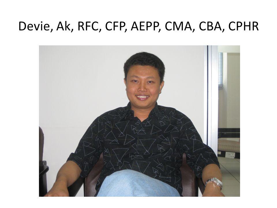 Devie, Ak, RFC, CFP, AEPP, CMA, CBA, CPHR