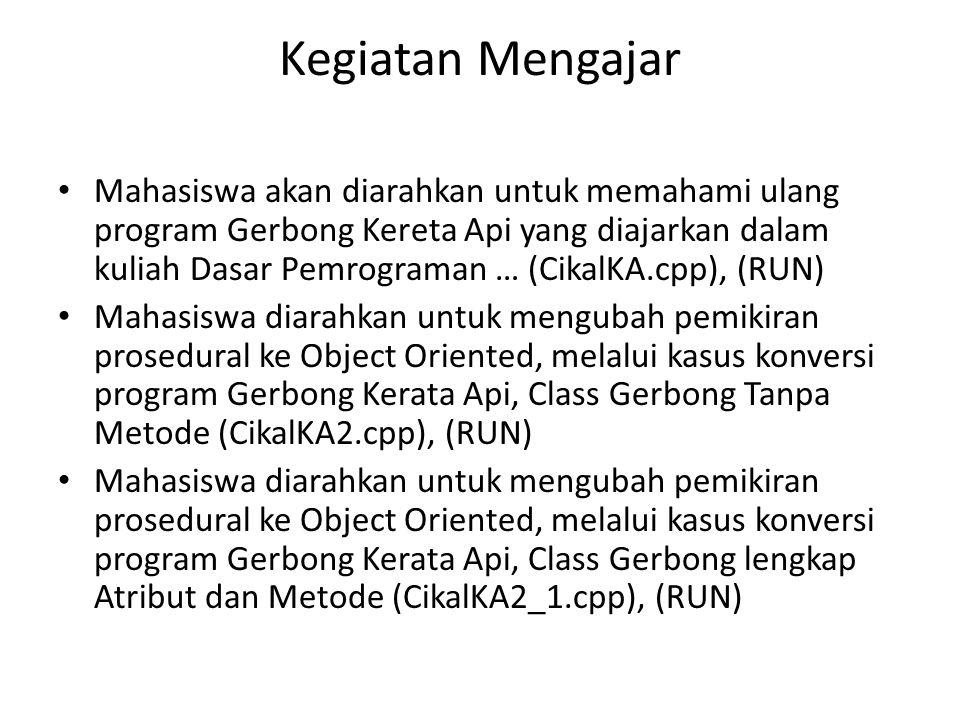 CikalKA.cpp : Struktur Class, Kode Sumber, Running