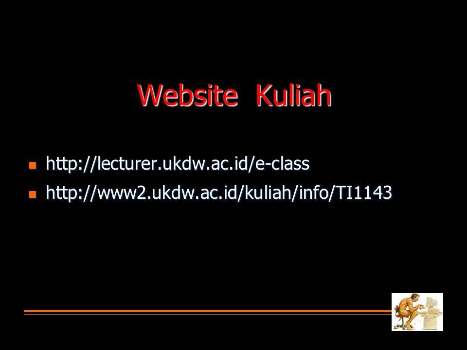 Website Kuliah  http://lecturer.ukdw.ac.id/e-class  http://www2.ukdw.ac.id/kuliah/info/TI1143