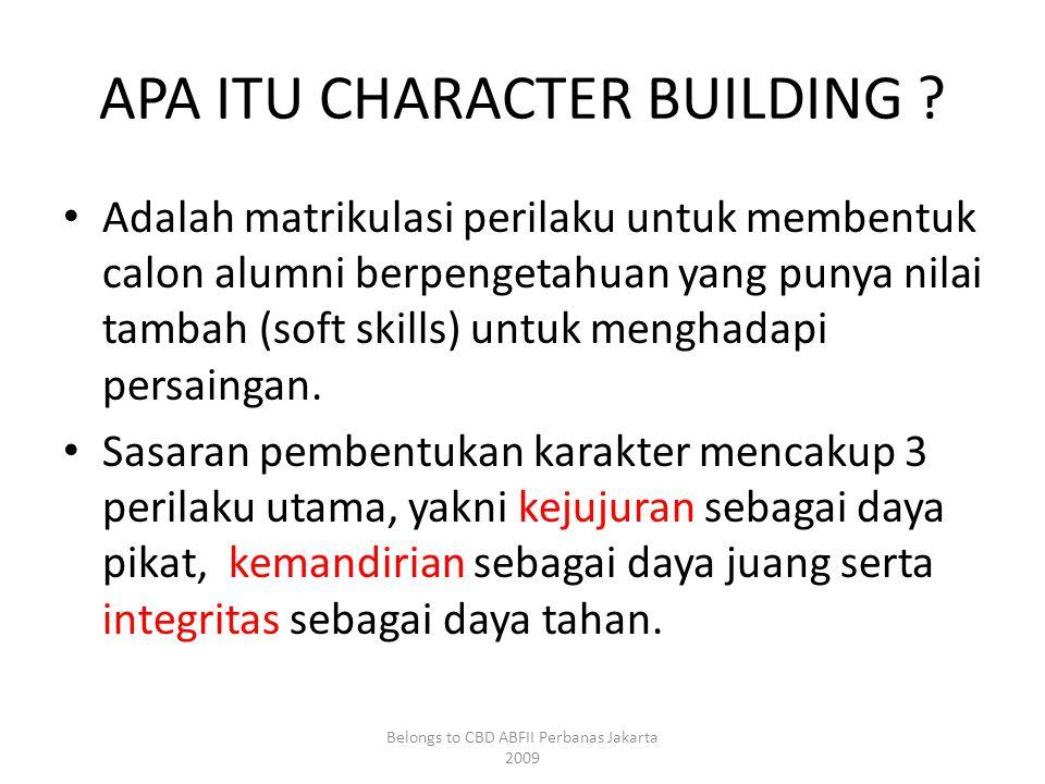 APA ITU CHARACTER BUILDING .