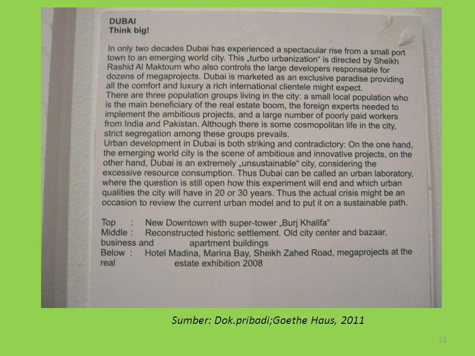 22 Sumber: Dok.pribadi;Goethe Haus, 2011