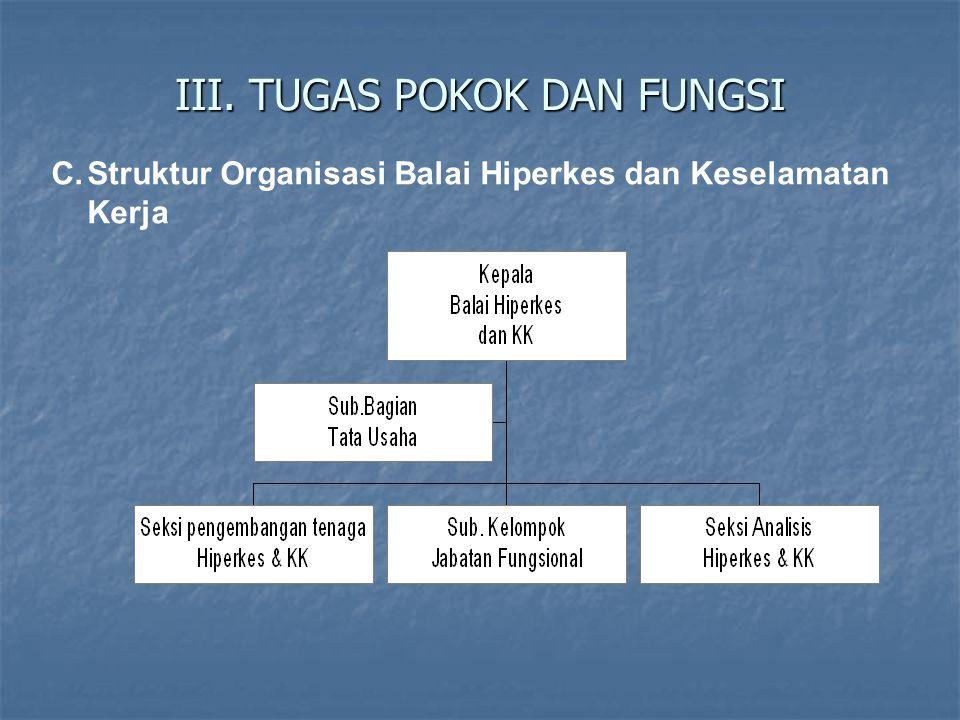 III. TUGAS POKOK DAN FUNGSI C.Struktur Organisasi Balai Hiperkes dan Keselamatan Kerja