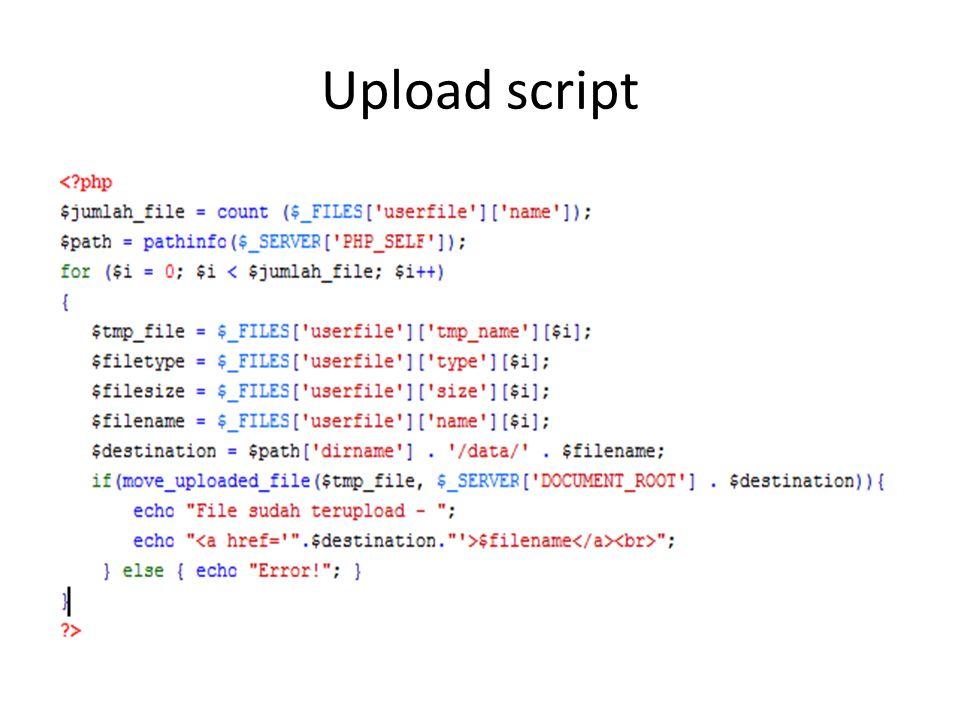 Upload script
