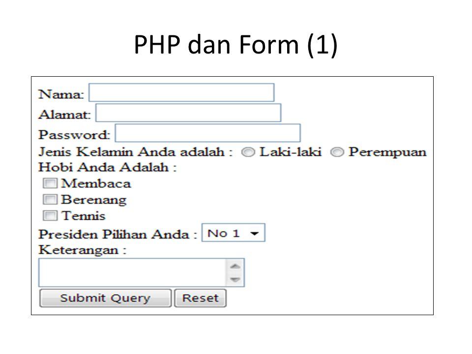 PHP dan Form (1)