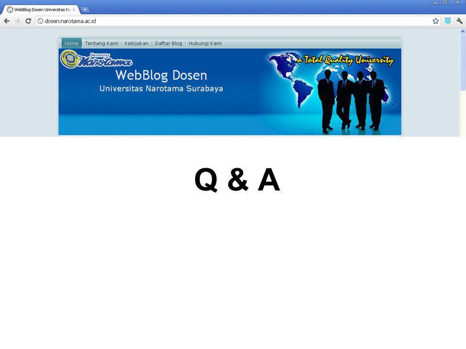 Copy of this material, please visit http://ambarwati.dosen.narotama.ac.id/2011/ 07/27/quick-guide-web-blog-dosen/