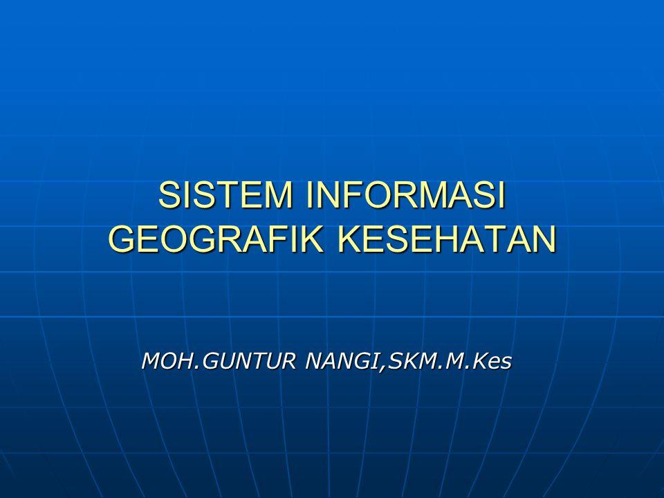 SISTEM INFORMASI GEOGRAFIK KESEHATAN MOH.GUNTUR NANGI,SKM.M.Kes