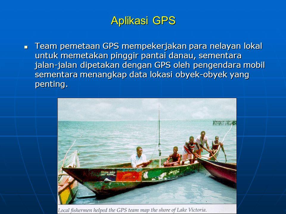 Aplikasi GPS  Team pemetaan GPS mempekerjakan para nelayan lokal untuk memetakan pinggir pantai danau, sementara jalan-jalan dipetakan dengan GPS oleh pengendara mobil sementara menangkap data lokasi obyek-obyek yang penting.