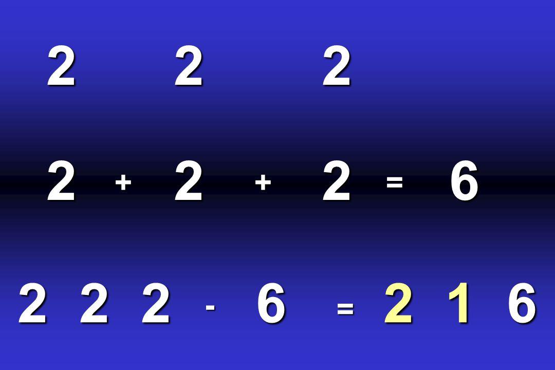 122226= 6 6 -222 +222=+
