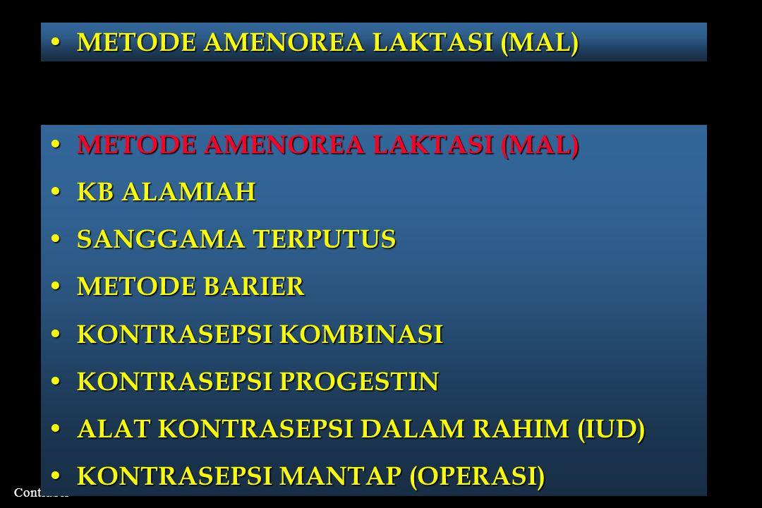 KOMBINASI ANDROGEN DAN PROGESTIN JENISANDROGENPROGESTIN SUNTIKAN 1.TESTOSTERONE OENAN- THATE 2.TERTOSTERONE UNDECA- NOATE 3.TESTOSTERONE BUCIC- LATE 1.MEDROXYPROGESTERONE AC 2.LEVONORGESTREL PIL 1.TESTOSTERONE UNDECA- NOAT (TDK EFEKTIF) 1.LEVONORGESTREL 2.DESOGESTREL 3.CYPROTERONE ACETAT IMPLANT 1.TESTOSTERONE 2.
