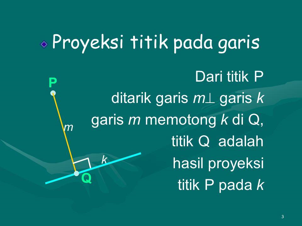 4 Contoh Diketahui kubus ABCD.EFGH Tentukan proyeksi titik A pada garis a.