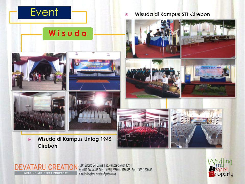  Wisuda di Kampus Untag 1945 Cirebon Event W i s u d a  Wisuda di Kampus STT Cirebon