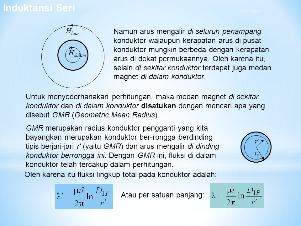 H luar H dalam Namun arus mengalir di seluruh penampang konduktor walaupun kerapatan arus di pusat konduktor mungkin berbeda dengan kerapatan arus di