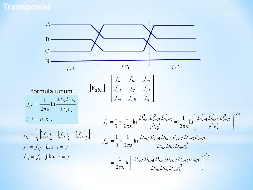 Transposisi formula umum