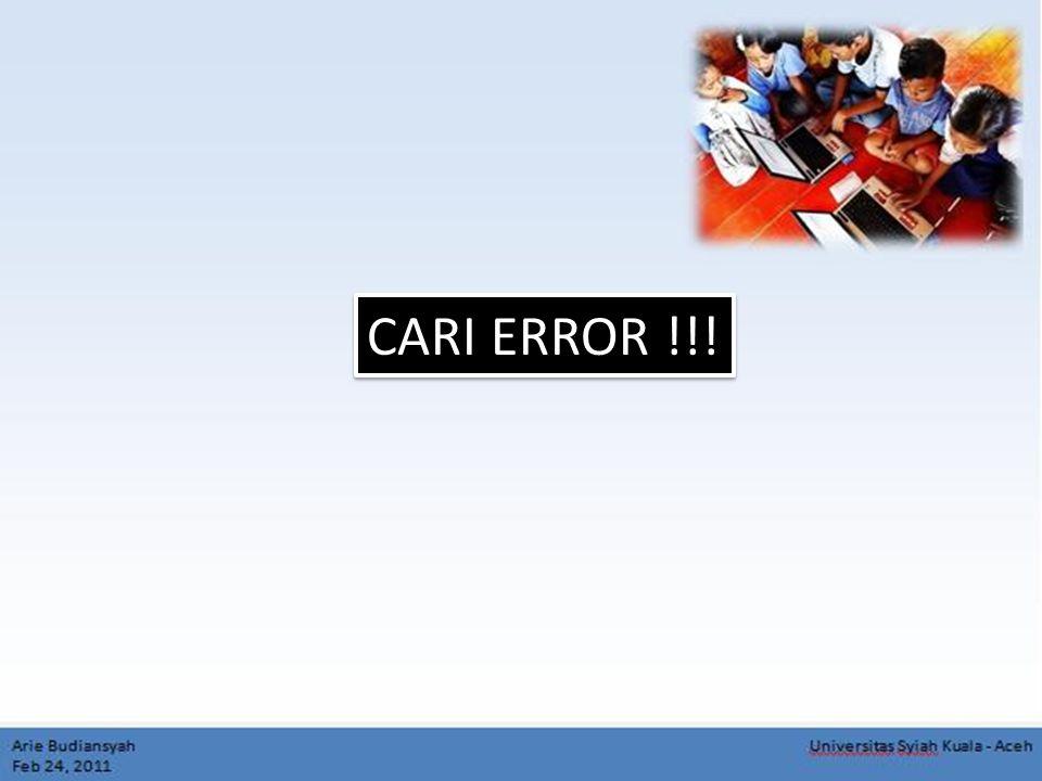 CARI ERROR !!!