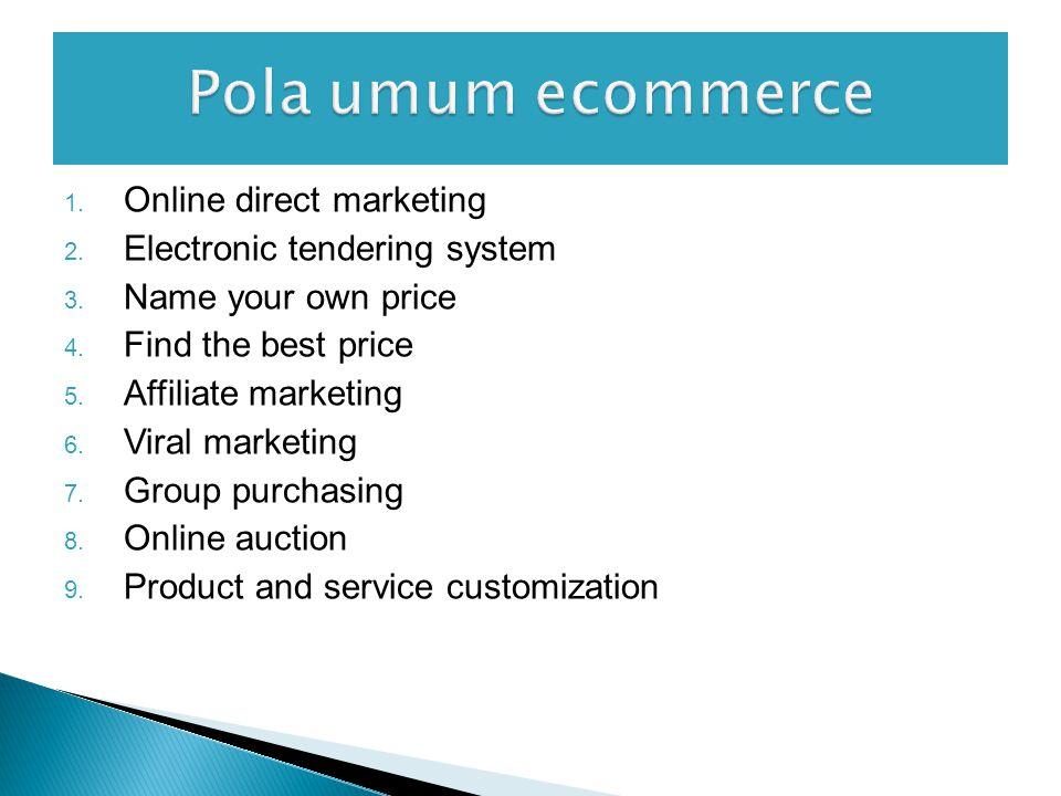  Aplikasi EC juga ditunjang oleh lima bidang pendukung: (yang ada didalam frame work ecommerce) ◦ SDM ◦ Peraturan/perundangan publik ◦ Pemasaran dan periklanan ◦ Layanan-layanan pendukung ◦ Kemitraan usaha