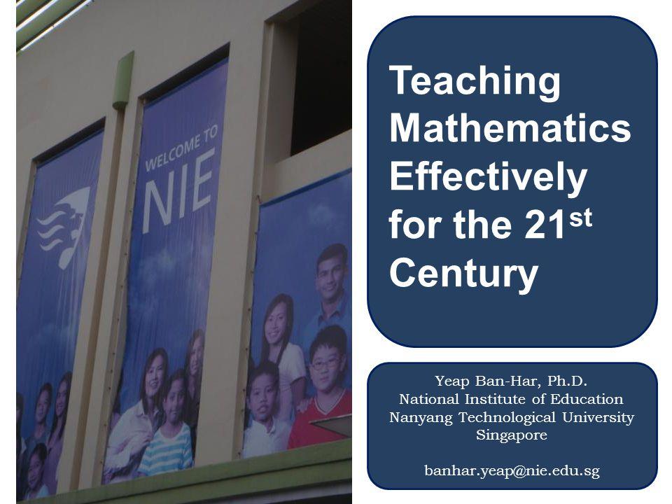 mathematics teaching effective Bina Bangsa School, Indonesia