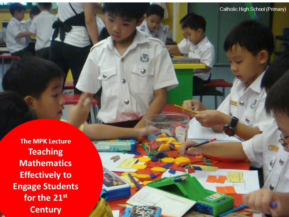 Mathematics is an excellent vehicle for the development and improvement of a person's intellectual competence..
