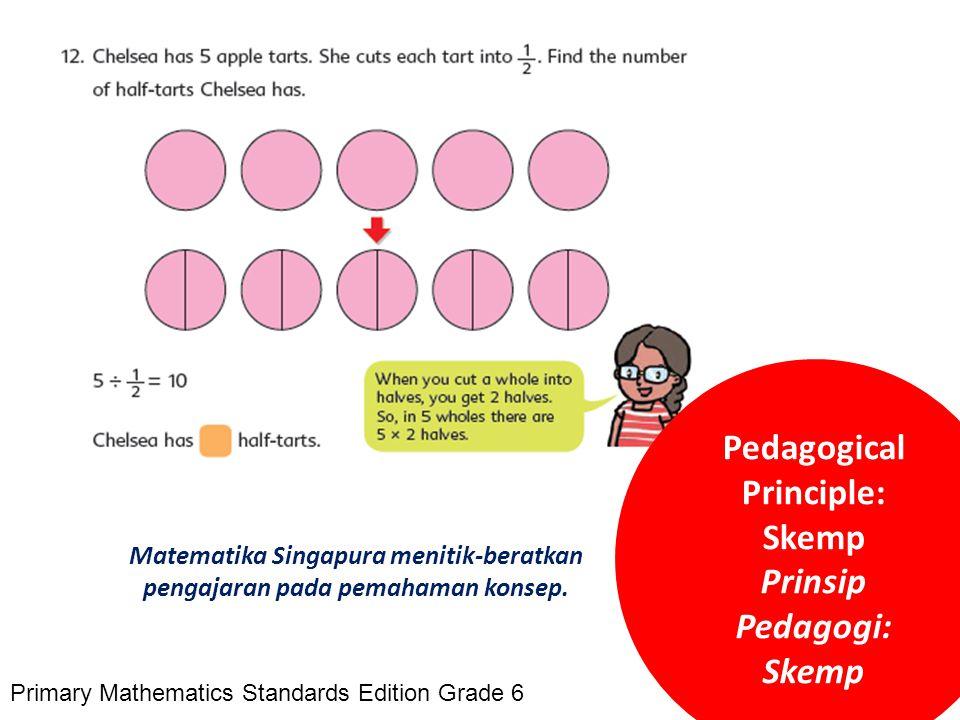 Skemp Matematika Singapura menitik-beratkan pengajaran pada pemahaman konsep. Pedagogical Principle: Skemp Prinsip Pedagogi: Skemp Primary Mathematics