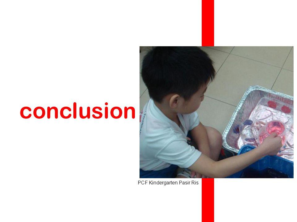 conclusion PCF Kindergarten Pasir Ris