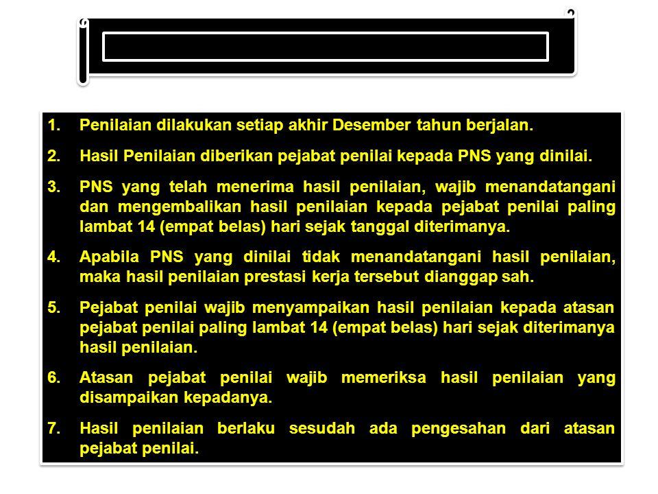 1.Pejabat penilai wajib menilai prestasi kerja PNS.