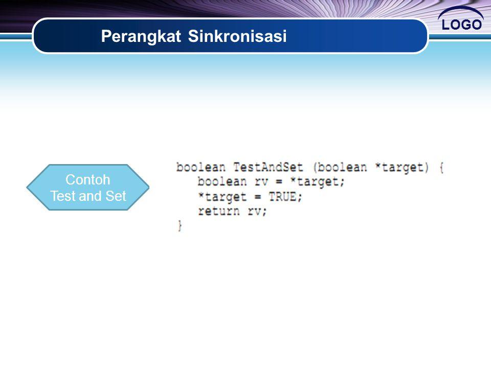 LOGO Perangkat Sinkronisasi Contoh Test and Set