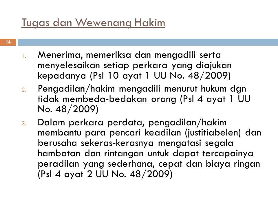 Tugas dan Wewenang Hakim 14 1.