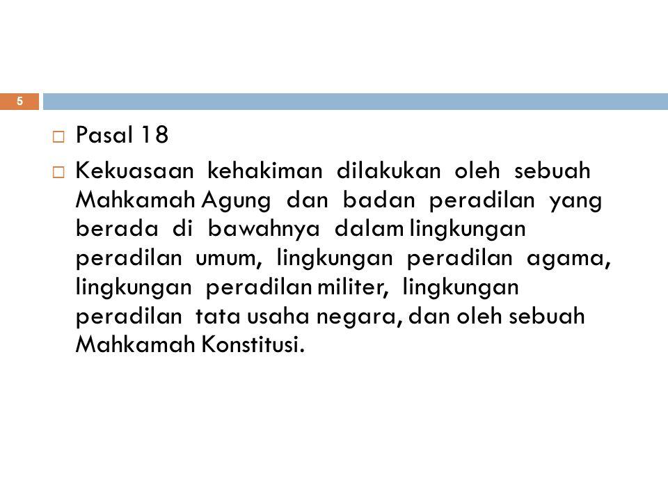 Bagan Badan Peradilan Menurut UU No.